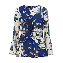 Buy Finery Eyton Twist Panel Virginia Bellflower Printed Top, Multi Online at johnlewis.com