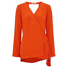 Buy Finery Chesholm V-Front Blouse, Clementine Online at johnlewis.com