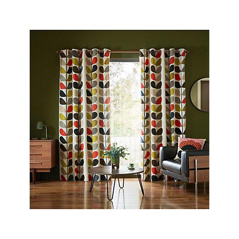 Buy Orla Kiely Multi Stem Pair Lined Eyelet Curtains