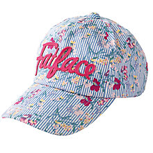 Buy Fat Face Children's Ticking Stripe Floral Cap, Blue/Multi Online at johnlewis.com
