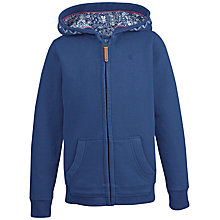 Buy Fat Face Girls' Seagull Graphic Zip Through Hoodie, Navy Online at johnlewis.com