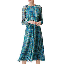 Buy L.K. Bennett Magda Tiered Silk Dress, Multi Online at johnlewis.com