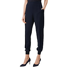 Buy L.K. Bennett Tess Ribbed Cuff Trousers, Navy Online at johnlewis.com