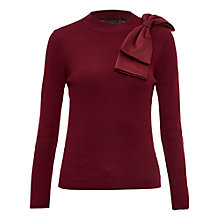 Buy Ted Baker Nehru Bow Detail Skinny Ribbed Jumper Online at johnlewis.com