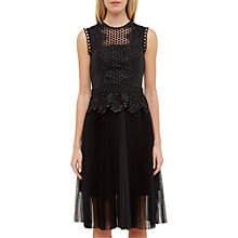 Buy Ted Baker Feifei Pleated Tutu Dress, Black Online at johnlewis.com