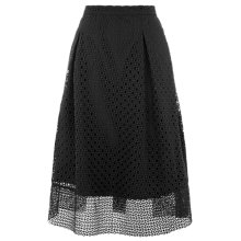 Buy Warehouse Linear Skirt, Black Online at johnlewis.com