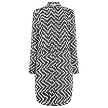 Buy Warehouse Chevron Print Shirt Dress, Black Online at johnlewis.com