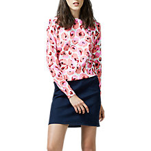 Buy Warehouse Poppy Print Jumper Online at johnlewis.com