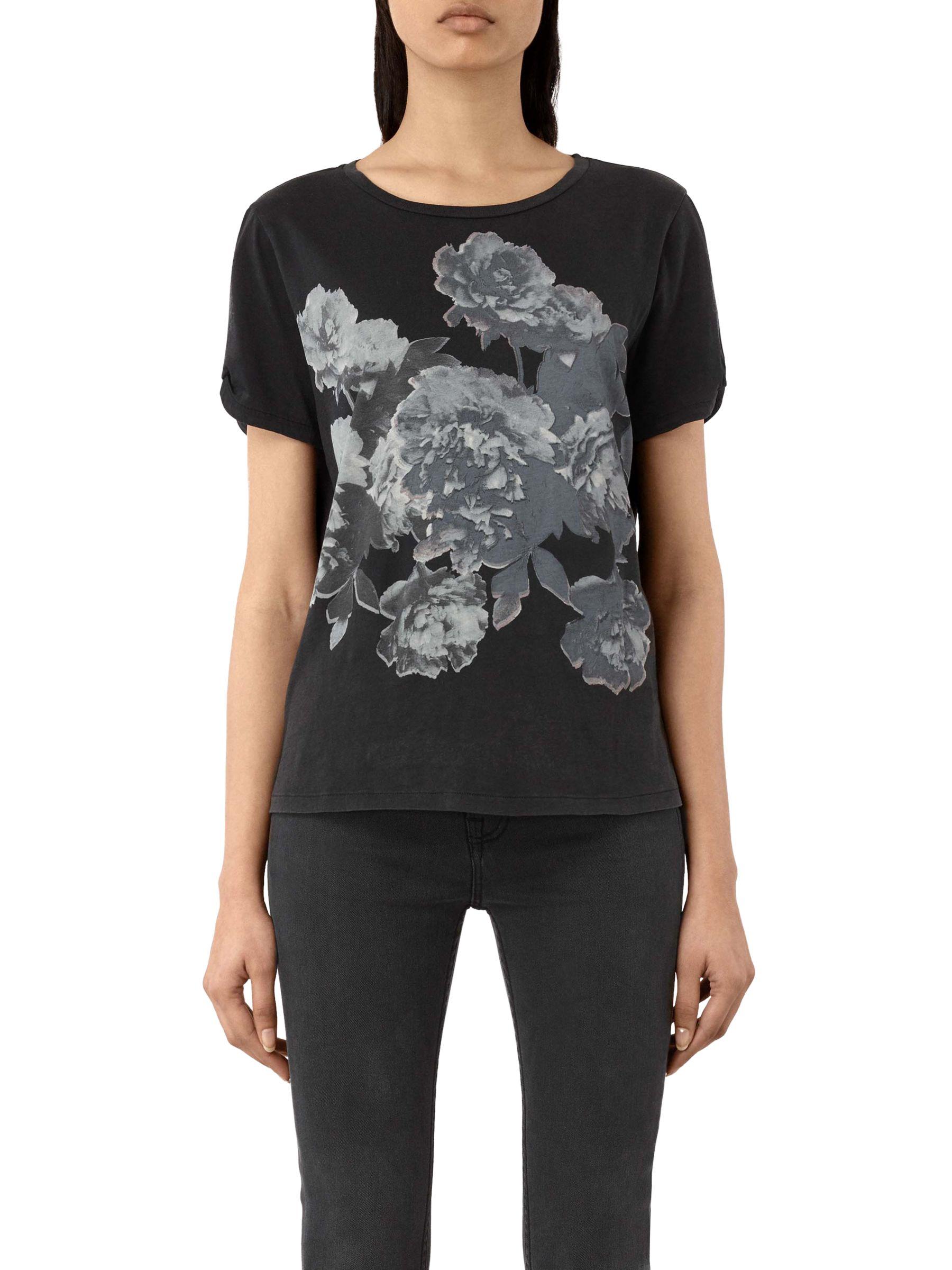 AllSaints AllSaints Carnea Mazzy T-Shirt, Fadeout Black