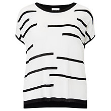 Buy Studio 8 Kelly Knit Top, Black/Ivory Online at johnlewis.com