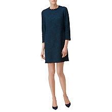 Buy L.K. Bennett Wren Tweed Dress, Navy Online at johnlewis.com