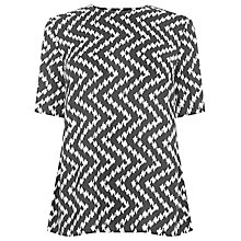 Buy Warehouse Chevron Print T-Shirt, Black Online at johnlewis.com