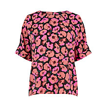 Buy Warehouse Poppy Print T-Shirt Online at johnlewis.com