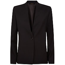 Buy Jaeger Insert Lapel Tailored Jacket, Black Online at johnlewis.com