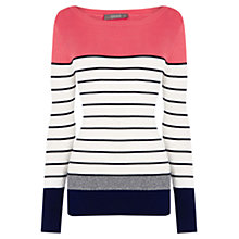 Buy Oasis Colour Block Ribbed Jumper, Multi Online at johnlewis.com