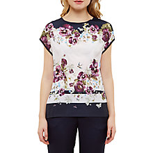 Buy Ted Baker Deniise Entangled Enchantment T-Shirt, Baby Pink Online at johnlewis.com