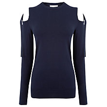 Buy Warehouse Tie Shoulder Jumper, Navy Online at johnlewis.com