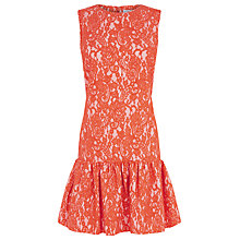Buy Warehouse Bonded Lace Peplum Dress Online at johnlewis.com