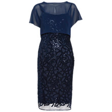 Buy Gina Bacconi Sequin Dress And Chiffon Top, Spring Navy Online at johnlewis.com