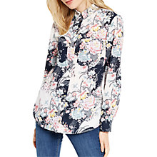 Buy Oasis Lotus Print Shirt, Multi Online at johnlewis.com
