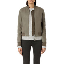 Buy AllSaints Avalon Bomber Jacket, Pistachio Green Online at johnlewis.com