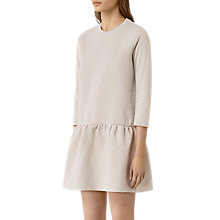 Buy AllSaints Niki Sweat Dress, Vanilla White Online at johnlewis.com