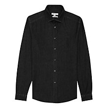 Buy Reiss Texan Slim Fit Denim Shirt, Black Online at johnlewis.com