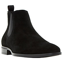 Buy Dune Martime Chelsea Suede Boots, Black Online at johnlewis.com