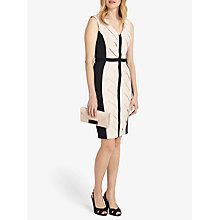 Buy Phase Eight Carly Weave Dress, Black/Cameo Online at johnlewis.com