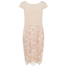 Buy Phase Eight Judie Lace Dress, Cameo/Ivory Online at johnlewis.com