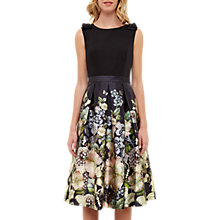 Buy Ted Baker Felcity Gem Gardens Pleated Dress, Black Online at johnlewis.com