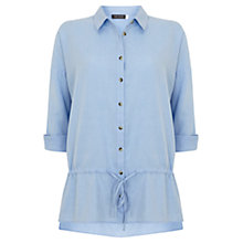 Buy Mint Velvet Drawstring Detail Shirt, Blue Online at johnlewis.com
