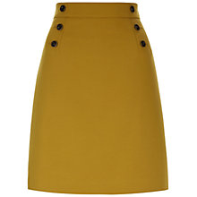 Buy Hobbs Eimear Skirt, Deep Gold Online at johnlewis.com