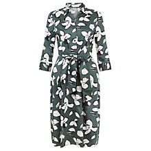 Buy Hobbs Val Printed Dress, Forest Green Online at johnlewis.com