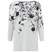 Buy Phase Eight Alexandria Print Top, Grey/Multi Online at johnlewis.com