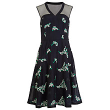 Buy Phase Eight Connie Embroidered Dress, Navy/Ivory Online at johnlewis.com