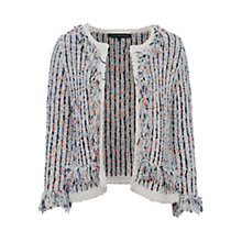 Buy French Connection Burliuk Boucle Knit Cardigan, White/Multi Online at johnlewis.com