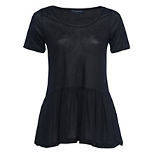 Buy French Connection Miro Mercerised Jersey Peplum Top Online at johnlewis.com