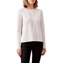 Buy Hobbs Rhiannon Jumper, Powder Pink Online at johnlewis.com