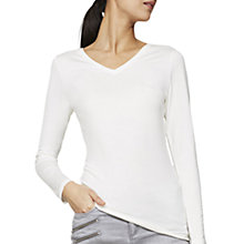 Buy Mint Velvet Modal V-Neck T-Shirt, Ivory Online at johnlewis.com