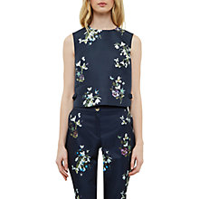 Buy Ted Baker Entangled Enchantment Samsa Bow Hem Crop Top, Dark Blue Online at johnlewis.com