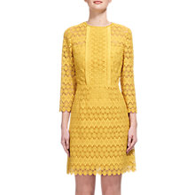 Buy Whistles Emma Circle Lace Dress, Yellow Online at johnlewis.com