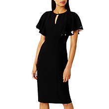 Buy Coast Claudia Cape Sleeve Dress, Black Online at johnlewis.com