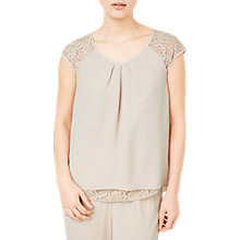 Buy Jacques Vert Lace Detail Blouse, Neutral Online at johnlewis.com