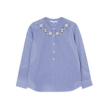 Buy Gerard Darel Cornelia Blouse, Light Indigo Online at johnlewis.com