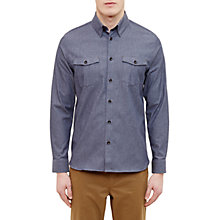 Buy Ted Baker Shestie Poplin Modern Fit Shirt, Navy Online at johnlewis.com