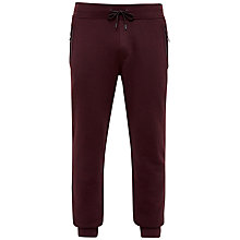 Buy Ted Baker Clube Jersey Cuffed Jogging Bottoms, Dark Red Online at johnlewis.com