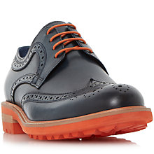 Buy Dune Brixton Brogue Shoes, Blue Online at johnlewis.com