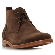 Buy Dune Magnus Suede Boots, Brown Online at johnlewis.com