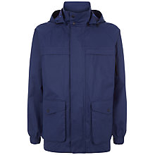 Buy Jaeger Showerproof Hooded Raincoat, Navy Online at johnlewis.com